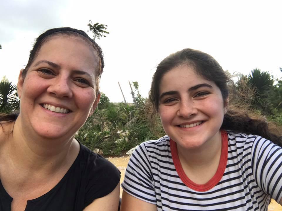 Sandra Fathi volunteering in Haiti