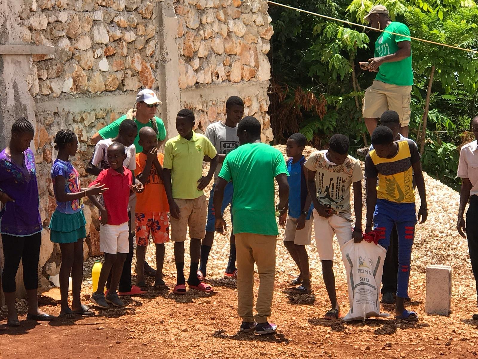 Volunteers at the summer camp in Haiti 2019
